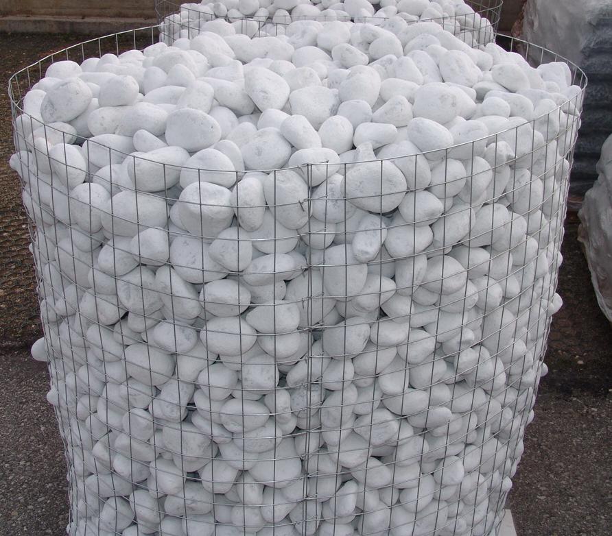 Foto di ciottoli di marmo e di porfido pavimenti in ciottoli - Ciottoli bianchi da giardino ...
