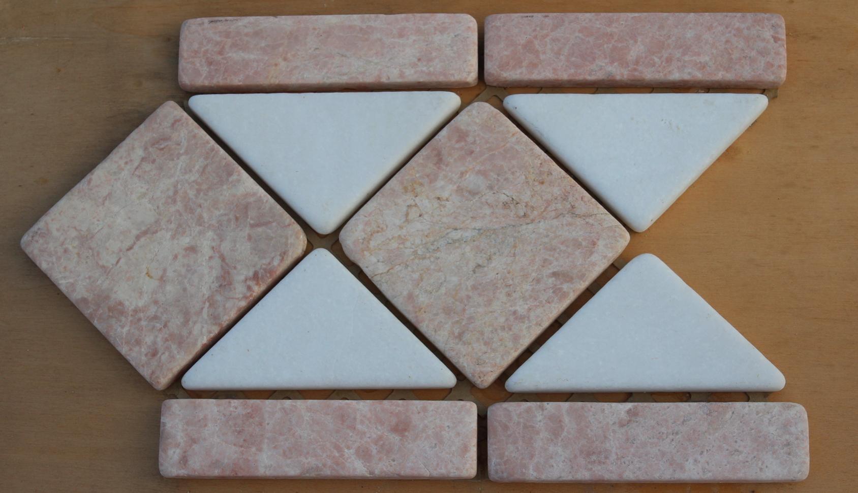 Mosaici marmo su rete venduti a prezzi concorrenziali for Greche decorative per cucina