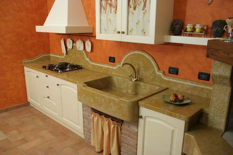 ... marmo Giallo Atlantide Piano di cucina in marmo Giallo Atlantide extra