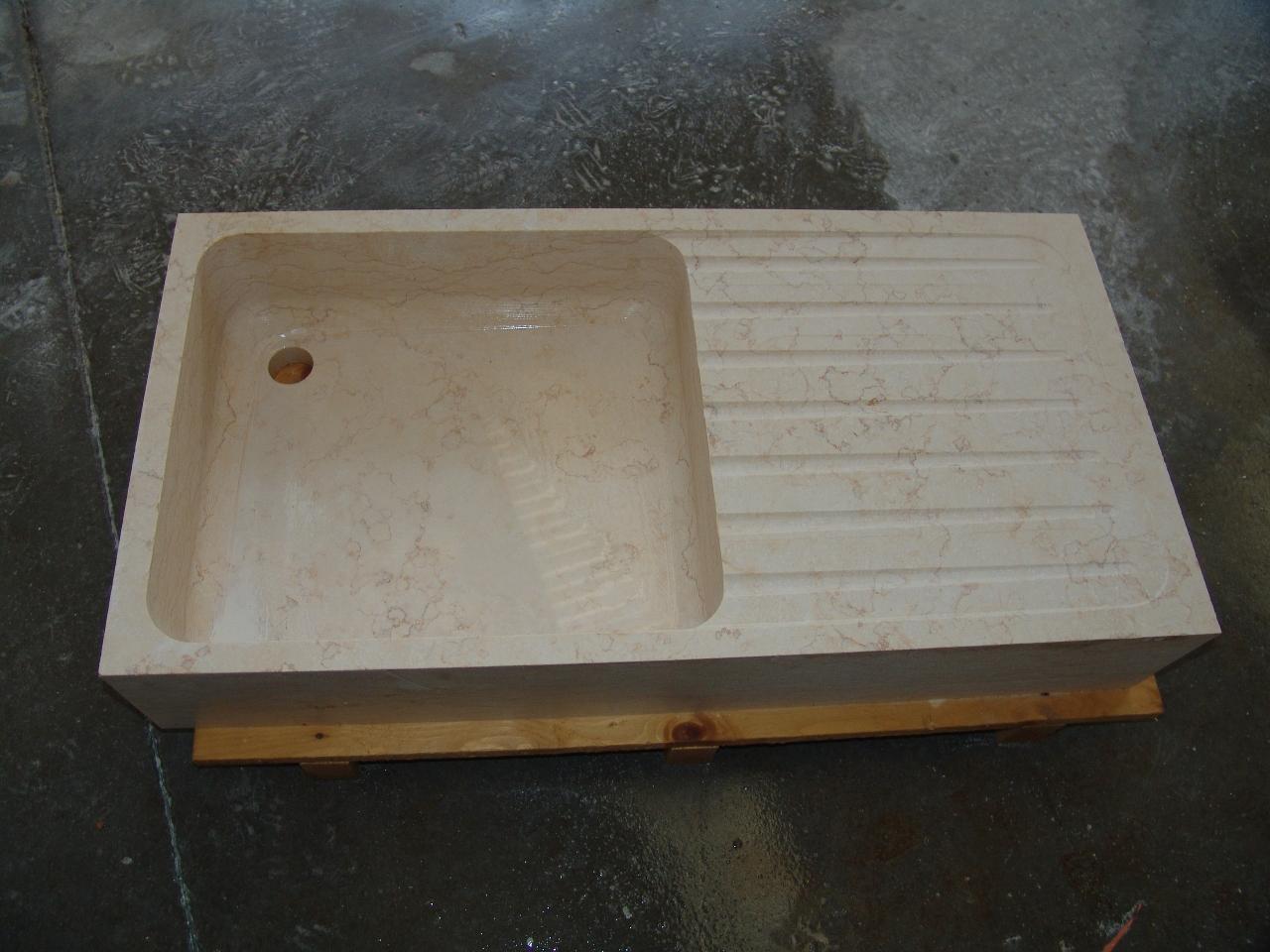Foto di lavelli in marmo e pietra della zem enrico marmi - Lavandini in marmo per cucina ...