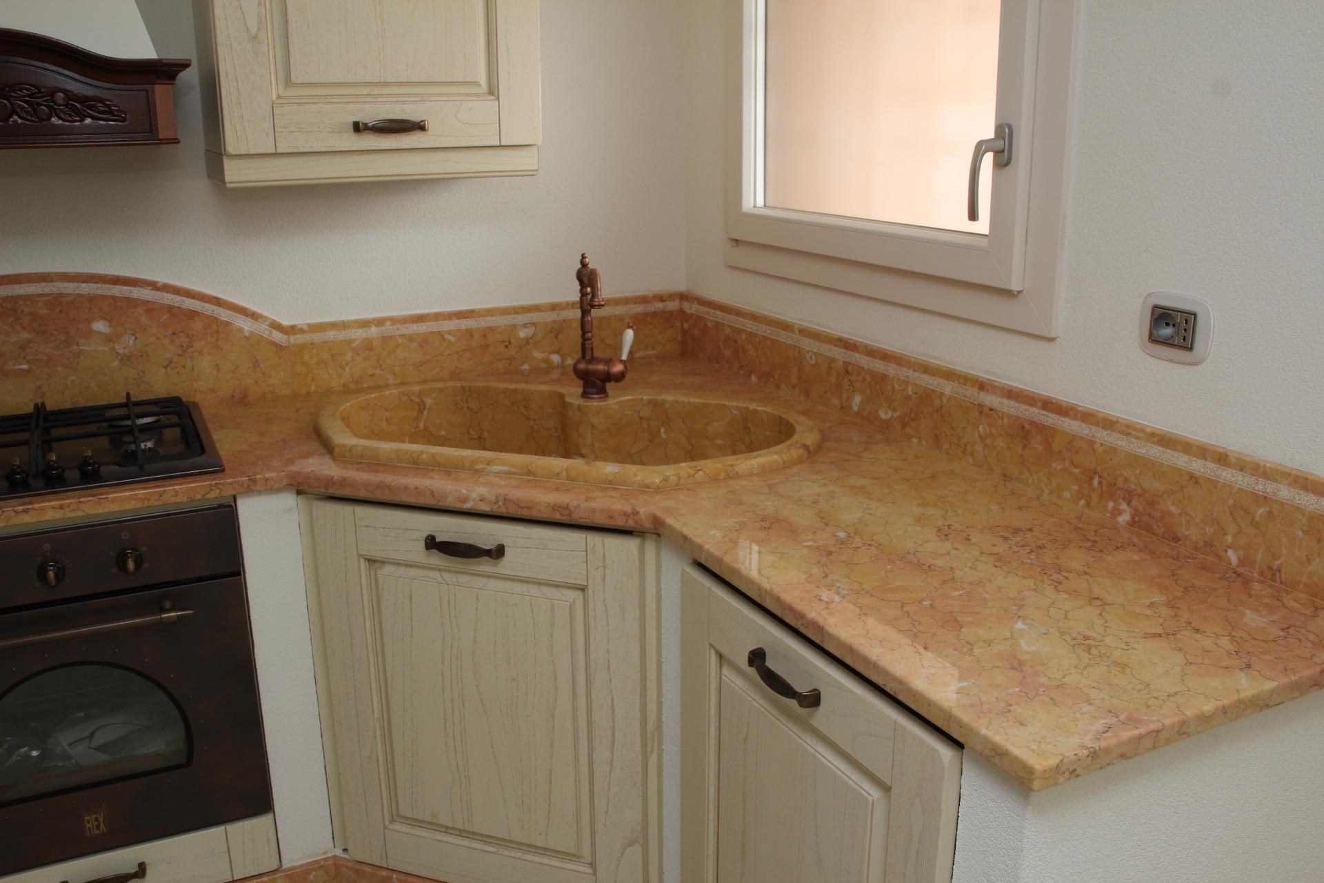 rosa valencia piano di marmo per cucina in