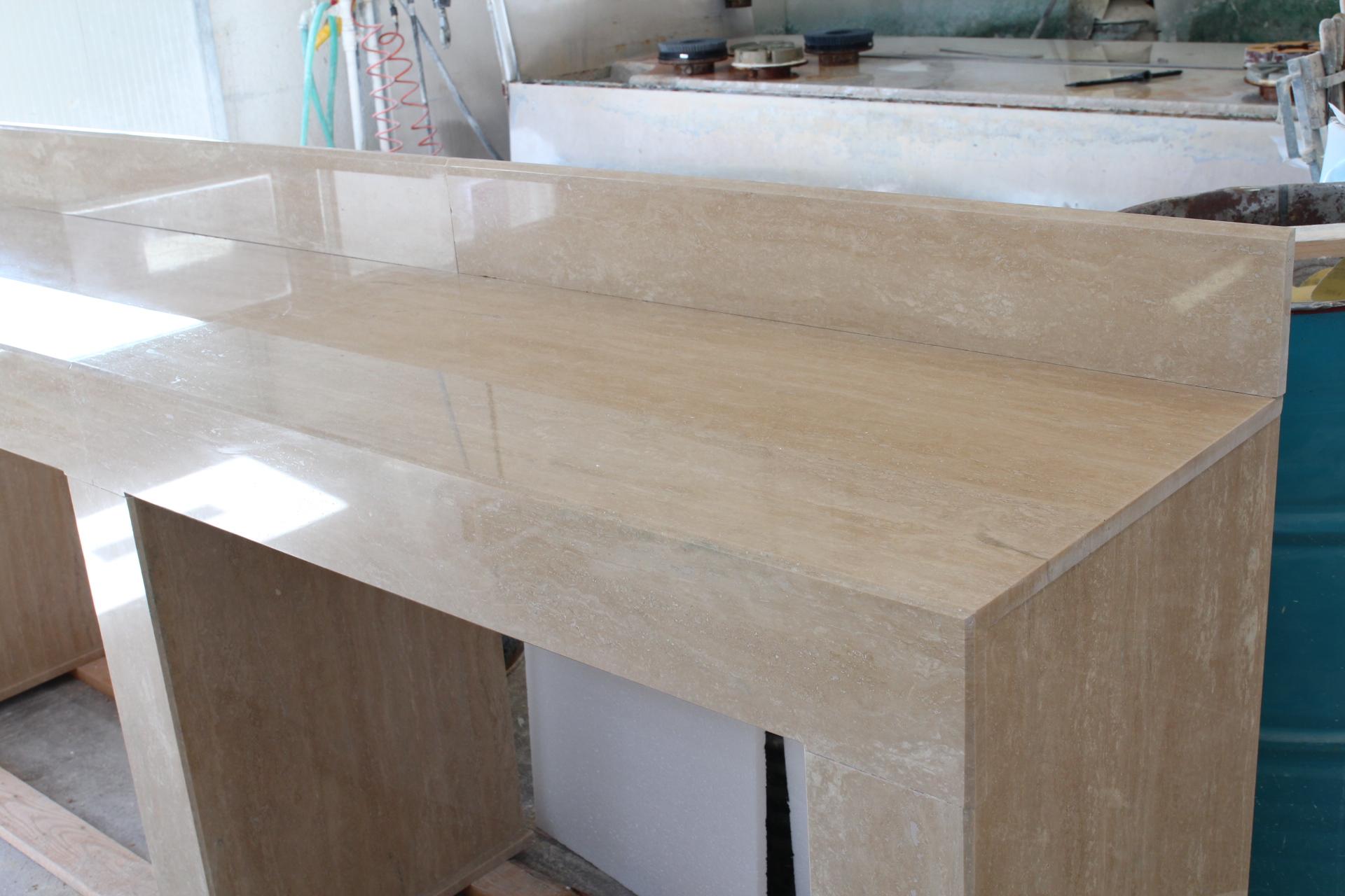 Armadio in cartongesso per soggiorno for Piano cucina in cemento