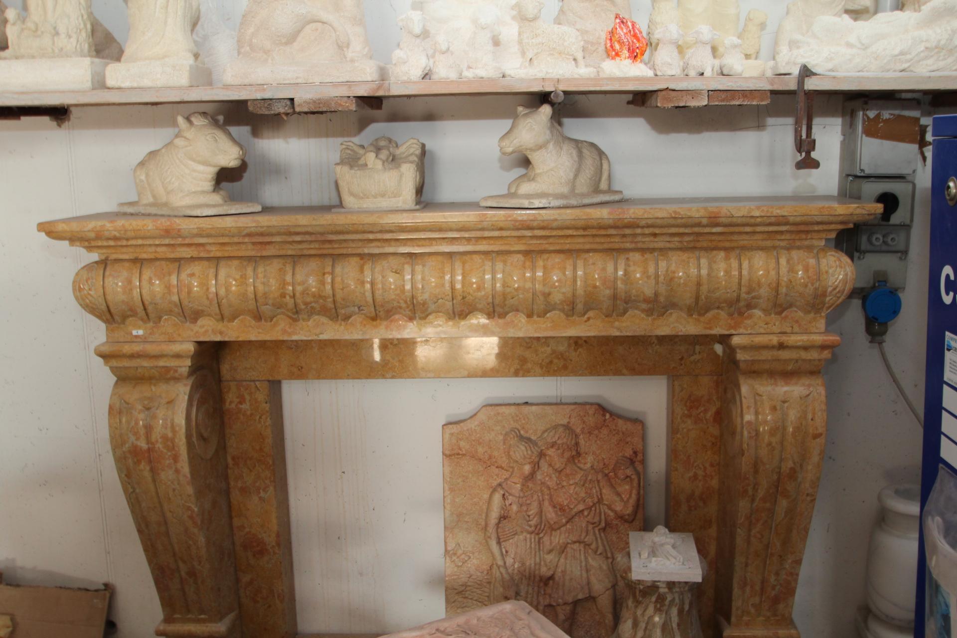 Zem enrico marmi arzignano foto camini e caminetti in marmo