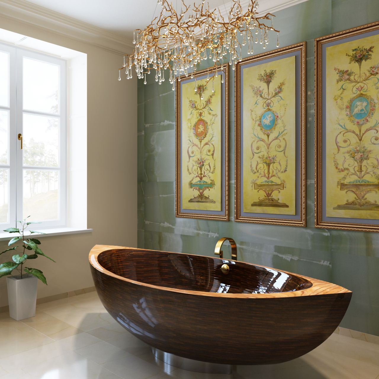 Latest excellent bagno in onice verde bagno in onice verde with bagni particolari moderni with - Specchi particolari per bagno ...
