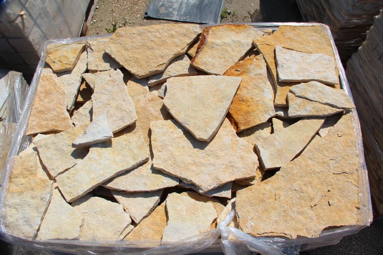 Foto pietre per rivestimento muri colore giallo - Pietra per esterno prezzi ...